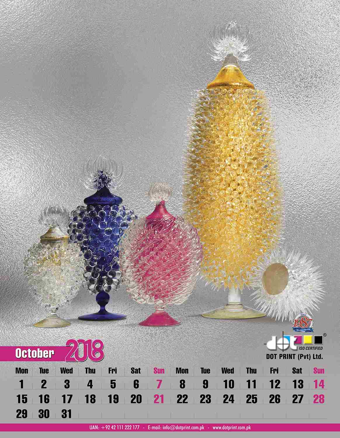 50080430152-00 Dotprint Calendar 2018 Set#2,2:2